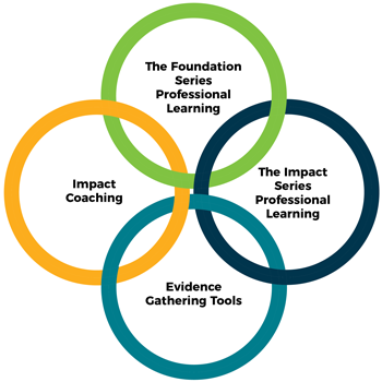 Graphic - The Foundation Series, The Impact Series, Evidence Gathering Tools, Impact Coaching